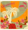 Vintage Hawaiian postcard vector image vector image
