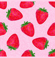 watercolor seamless pattern with strawberries on vector image vector image