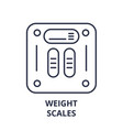weight scales line icon concept weight scales vector image