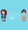 young business women colorful vector image vector image
