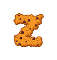 Z letter cookies cookie font oatmeal biscuit