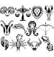 zodiac icons vector image vector image