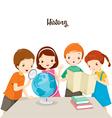 Children In History Class vector image