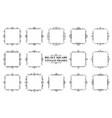 large set of black vintage square frames vector image