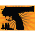 correct pistol and cartridges vector image