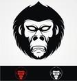 Gorilla Head Mascot vector image