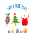 Set icons for happy Christmas and new year vector image