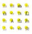 16 architecture icons vector image vector image