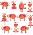 abstract elephants seamless pattern it is vector image vector image
