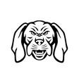 angry hungarian vizsla dog head mascot black vector image vector image