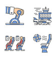 aviation services color icons set vector image vector image