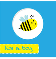 Baby shower card with bee Its a boy vector image vector image