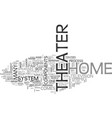 basic components for a home theater text word vector image vector image