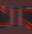 black and red color abstract background with copy vector image vector image