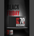 black friday computers sale poster template vector image vector image