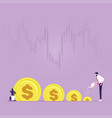 business investment and money growth concept vector image vector image