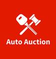 car auction logo design vector image vector image