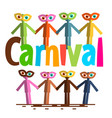 carnival flat design paper cut people on party vector image