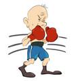 cartoon image of boxer vector image vector image