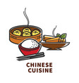 china cuisine national food rice dumplings and vector image vector image