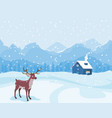 christmas landscape in winter vector image