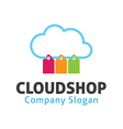 Cloud Shop Design vector image vector image