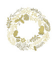 composition with christmas symbols sketch vector image vector image