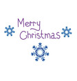 Congratulation with Christmas vector image