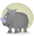 cute cartoon rhino vector image vector image