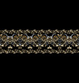 damask seamless border pattern floral vector image