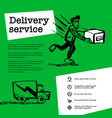 delivery service concept web banner with delivery vector image vector image