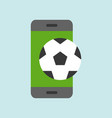 football on smartphone screen live stream or vector image
