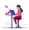 freelancer worker concept online learning vector image vector image
