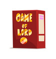 game of lord board game box on vector image vector image