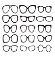 glasses icons Icon Set Sunglasses vector image vector image