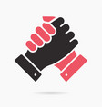 handshake icon on white background vector image