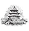 heaven temple vintage vector image vector image