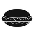 hot dog icon simple black style vector image