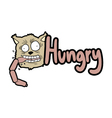 hungry message vector image