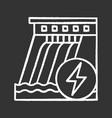 hydroelectric dam chalk icon vector image vector image