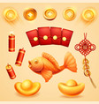 isolated chinese new year holiday wedding items vector image vector image