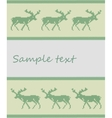 Knitted deer background vector image vector image