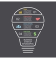 light bulb linear infographic Template for vector image vector image