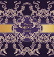 luxury baroque card paper decor ornament vector image vector image