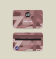 member card template abstract triangle vector image vector image