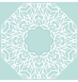Mosaic ornamental lace frame abstract background vector image vector image