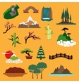 Nature landscape elements and buildings vector image vector image