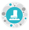 of air symbol on rubber boot vector image