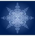 Ornamental snowflake vector image vector image