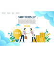 partnership website landing page design vector image vector image